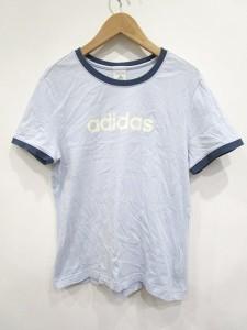 アディダス adidas Tシャツ 半袖 ロゴ L 水 LEK 0306 レディース