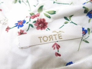 TORTE ワンピース 半袖 花柄 F 白 LEK 0306