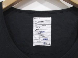 シャリーフ SHAREEF Tシャツ 半袖 プリント 1 黒  0511 メンズ ベクトル【中古】