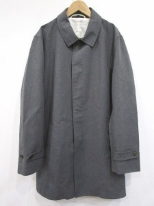 無印良品 良品計画 ステンカラーコート コットン 比翼 L グレー 1114 メンズ ベクトル【中古】