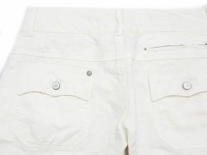 ディーゼル DIESEL ライン パンツ ブーツカット ローライズ リネン 白 アイボリー size W26 春夏 レディース ベクトル【中古】