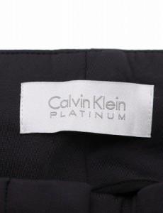 カルバンクライン CALVIN KLEIN PLATINUM テーパードパンツ チャコールグレー XS ボトムス 無地 2 ナイロン コットン  ベクトル【中古】