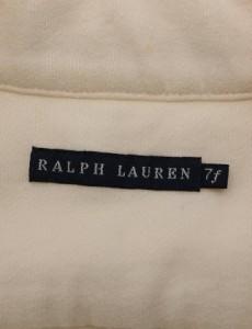 ラルフローレン RALPH LAUREN テーラードジャケット ブレザー アイボリー 白 S アウター 無地 7F コットン 綿 レディー ベクトル【中古】