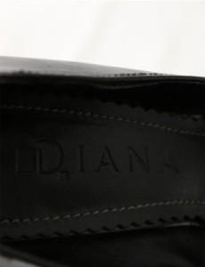 ダイアナ DIANA パンプス グリッターラメ 黒 22.5 シューズ レザー レディース ベクトル【中古】