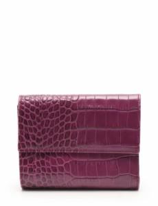 facd29f93ab2 フルラ FURLA 三つ折り財布 紫 小物 レザー クロコ型押し レディース
