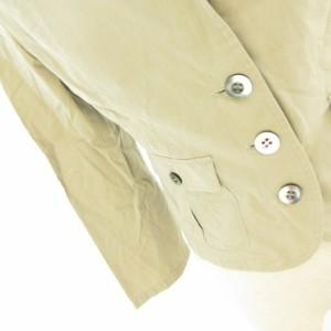 ボールジー BALLSEY トゥモローランド テーラードジャケット 七分袖 薄手 ベージュ 38 *E134 レディース ベクトル【中古】