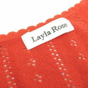 レイラローズ Layla Rose カーディガン ニット ショート丈 半袖 赤 M *A826 レディース ベクトル【中古】