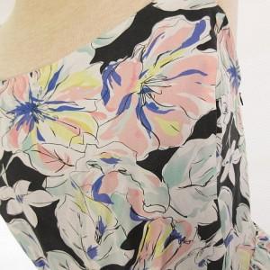 グレイル GRL ワンピース ノースリーブ フレア ミニ 花柄 水色 白 M *A495 レディース ベクトル【中古】