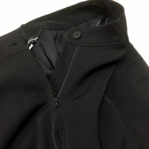 ヌオヴォクアランタ Nuovo Quaranta サイドデザイン スラックス パンツ ボトムス 7 ブラック 黒 フォーマル SSAW レデ ベクトル【中古】
