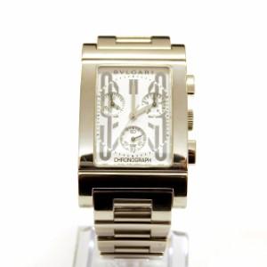 brand new 1dd25 ce358 【中古】ブルガリ BVLGARI レッタンゴロ クロノグラフ 腕時計 ウォッチ RTC49S クオーツ ホワイト文字盤 白 メンズ au  Wowma!(ワウマ)