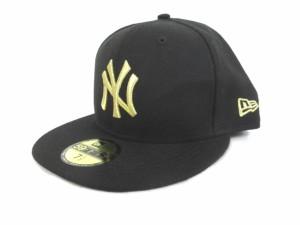 ニューエラ NEW ERA キャップ 刺繍 ロゴ 5950 黒 ブラック ゴールド 金 7 1 2 59.6 34e7b2f10597