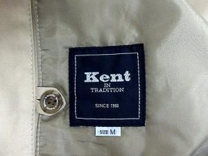 ケント Kent ジャケット ブルゾン 長袖 ロゴ 英字 M ベージュ ※I-211 レディース