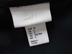 エイチ&エム H&M ノースリーブ タンクトップ カットソー シースルー ポリエステル 2 黒 ブラック ※K レディース