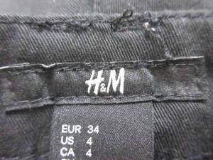 エイチ&エム H&M パンツ ショート ポリエステル 無地 4 黒 ブラック ※MH  レディース