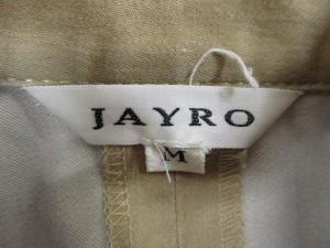 ジャケット ブルゾン シャツ 七分袖 ジップアップ 薄手 M ブラウン 茶 ※I-75 レディース
