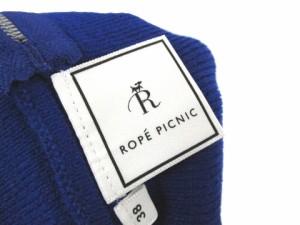 未使用品 ロペピクニック ROPE Picnic ニットスカート ミニ ジップ ブルー 38 レディース