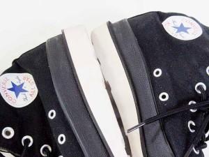 6c396858a5007a 【中古】コンバース CONVERSE スニーカー ハイカット オールスター キャンバス 厚底 黒 27.0 メンズ
