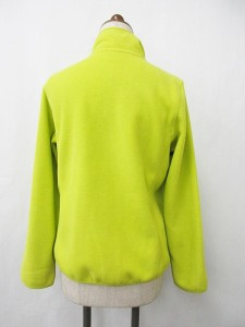 ユニクロ UNIQLO パーカー ジップアップ スタンド襟 ポケット 3本針ステッチ フリース 長袖 黄緑 L レディース ベクトル【中古】