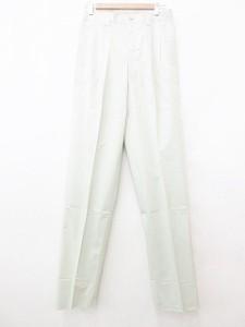 5ff9a851412a 未使用品 SUPERIOR パンツ スラックス タック 綿 グリーン 76 メンズ