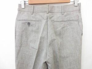 cf17063b493b 未使用品 クロコダイル CROCODILE パンツ スラックス ストレート ロング センタープレス ポケット 麻混 べージュ 73 メンズ