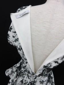 AGNOST カットソー 半袖 ペプラム 花柄 38 白 ホワイト ■AC /ss レディース ベクトル【中古】