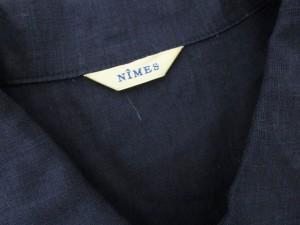 ニーム NIMES シャツ ノースリーブ リネン 青 ブルー ■AC ahm レディース ベクトル【中古】