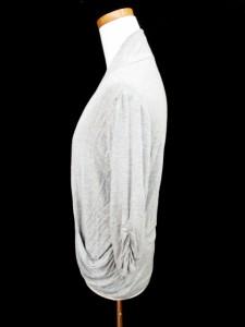 PREFERIR プレフェリール カーディガン 羽織 七分袖 ギャザー 38 グレー ■AC /HH レディース ベクトル【中古】