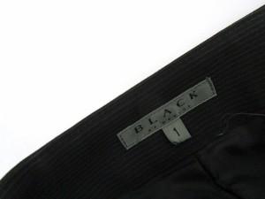 ブラック バイ マウジー BLACK by moussy パンツ サロペット 2way ピンストライプ 1 黒 ブラック ahm レディース ベクトル【中古】