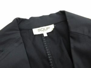 スープ SOUP ジャケット テーラード シングル タイト 七分袖 コットン 11 紺 ネイビー /mi レディース ベクトル【中古】
