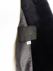 エフデ ef-de ジャケット テーラード ベロア 11 黒 ブラック ats レディース ベクトル【中古】