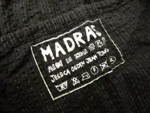 マドラス madras ワンピース キャミソール キャミワンピ ティアード ラメ ひざ丈 ストライプ コットン M 黒 ブラック cys レディース