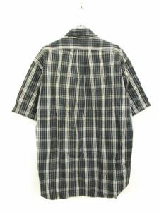 ラルフローレン RALPH LAUREN シャツ カジュアル ボタンダウン 半袖 チェック コットン L グレー 紺 ネイビー 国内正規品 /KY メンズ