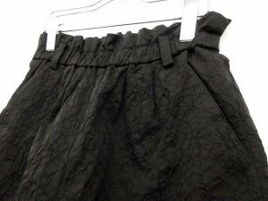 ローズバッド ROSE BUD パンツ ショート ショーパン 総柄 コットン F 黒 ブラック ako レディース ベクトル【中古】