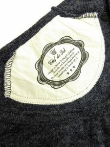 クレドソル CLEF DE SOL セーター ニット 長袖 プリント M 青 ブルー /ew レディース ベクトル【中古】
