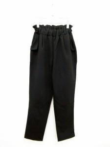 アンティカ antiqua パンツ スラックス ハイウエスト M 黒 ブラック /hn レディース ベクトル【中古】