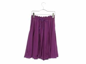 ディアプレ DIAPRE スカート ひざ丈 フレア 38 紫 パープル amy レディース ベクトル【中古】