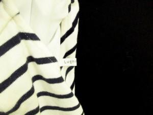 ルノンキュール Lugnoncure カットソー 長袖 シフォン ボーダー コットン アイボリー 紺 ネイビー /KY レディース ベクトル【中古】