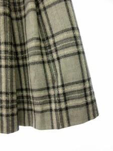 カールパークレーン KarL Park Lane スカート ミニ プリーツ チェック ウール 7 グレー /ew レディース ベクトル【中古】