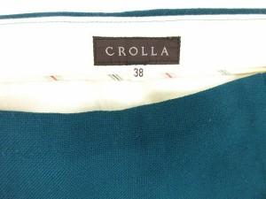 クローラ crolla スカート 台形 ミモレ ウール 38 緑 グリーン bmy レディース ベクトル【中古】