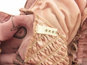アクシーズファム axes femme ワンピース ミニ パフスリーブ レース 総柄 M ピンク /sh レディース ベクトル【中古】