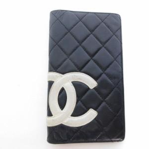 8427cea4c779 シャネル CHANEL カンボンライン 長財布 レザー 黒 ブラック ☆CA☆キ30-3店