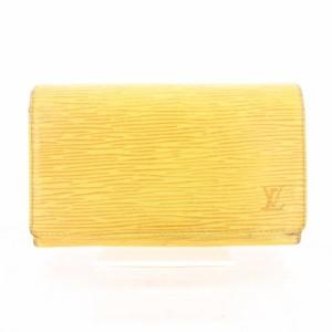 3d39761ccd75f2 ルイヴィトン LOUIS VUITTON ポルトモネ ビエ トレゾール エピ 財布 二つ折り 黄 イエロー M63509 ☆CA