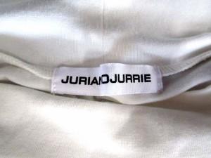 ジュリアーノ ジュリ JURIANO JURRIE Tシャツ カットソー イラスト オフネック 半袖 白 【中古】