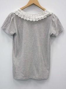 ディップドロップス Dip Drops Tシャツ カットソー レース ロゴ 半袖 2 グレー 【中古】 ベクトル【中古】