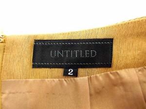 アンタイトル UNTITLED スカート 膝丈 タック ジッパーフライ 無地 2 ベージュ 【中古】 ベクトル【中古】