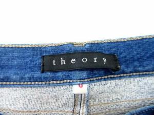 セオリー theory パンツ デニム ジップフライ ストレッチ 0 青系 【中古】