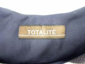 トータリテ Totalite ワンピース ひざ丈 切替 ノースリーブ ウエストゴム ボーダー グレー 【中古】 ベクトル【中古】