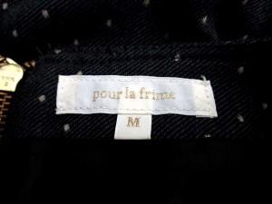 プーラフリーム pour la frime ワンピース ウエストゴム フレア ドット 長袖 M グレー系 【中古】 ベクトル【中古】