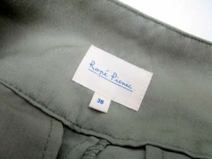 未使用品 ロペピクニック ROPE Picnic パンツ スカート キュロット ショート フレア 無地 38 カーキ