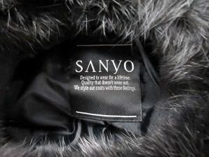 SANYO コート ウール ロング ラビットファー 11 黒 /YO15 レディース ベクトル【中古】